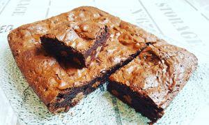 Recette Brownie  fondant noisette, Nutella et Smarties au Cake Factory
