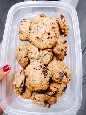 Recette Cookie pistache et chocolat
