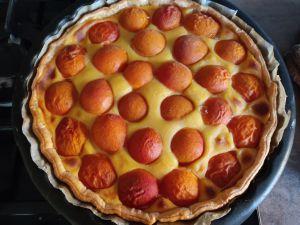 Recette Tarte crème aux abricots (compact cook pro)