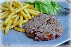 Recette Steak aller/retour aux tomates séchées et oignons frits