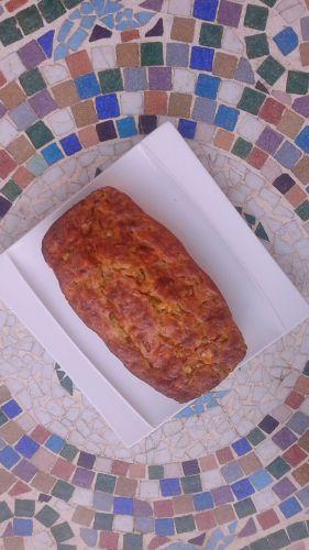 Recette Cake chèvre, tomates confites, courgettes