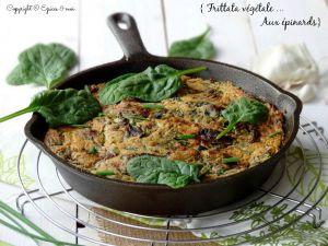 Recette Frittata végétale aux poussses d'épinards