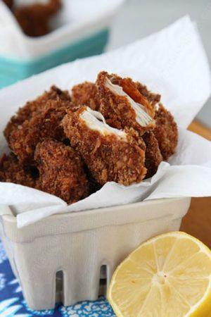 Recette Nuggets de poulet maison avec un enrobage léger et croustillant à souhait