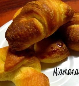 Recette Mini croissants à l'amande amère