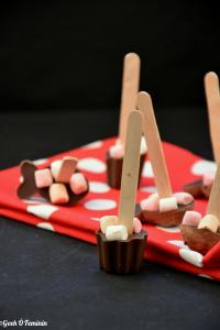 Recette Noël : les sucettes au chocolat-chamallow