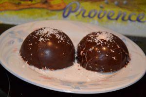 Recette Dôme de chocolat guimauve ( chamallow)