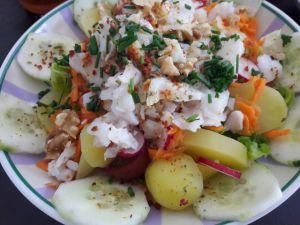 Recette Salade de cabillaud de fin d' été