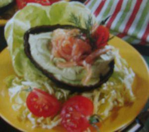 Recette Avocat au saumon