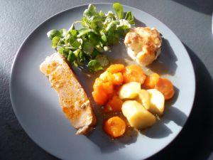 Recette Rouelle de porc aux carottes au cookéo
