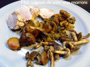 Recette Filet mignon de porc aux marrons
