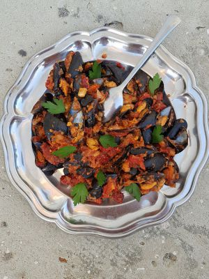 Recette Moules à la tomate et au chorizo