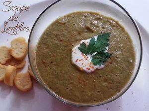 Recette Soupe de Lentilles