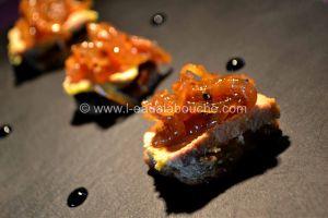 Recette Bouchées de Foie Gras à la Confiture d'Oignons