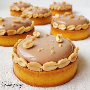 Recette Tartelettes Cacahuète Chocolat au lait Caramel au beurre salé