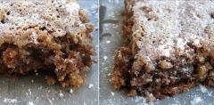 Recette Carrés festifs aux noix et aux dattes