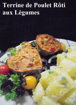 Recette WW: Terrine de Poulet Rôti aux Légumes d'Eté