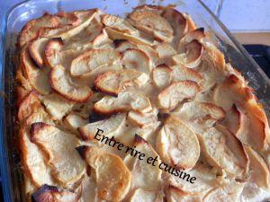 """Recette Flamusse aux pommes """"confinées"""""""