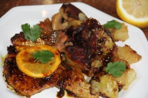 Recette Cotes de porc au citron, miel et curry