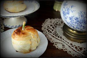 Recette CMUM , pomme ou poire , douillons de pommes au caramel au beurre salé