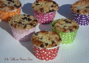Recette Muffins aux pommes - crumble chocolat