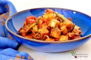 Recette Tofu au ketchup (végétalien)