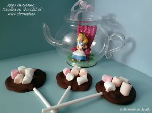 Recette Louis en cuisine avec les sucettes au chocolat et mini chamallow