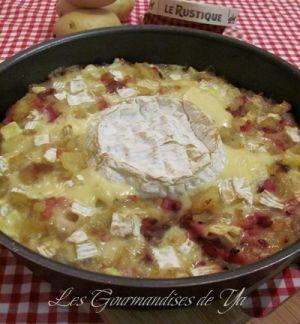 Recette Gratin de pommes de terre, lardons et camembert
