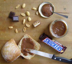 Recette Pâte à tartiner au snickers