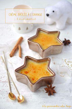 Recette Crème brûlée à l'orange & à la cannelle #Noël #vegan #sans gluten