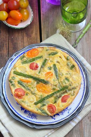 Recette Frittata asperges et tomates cerises