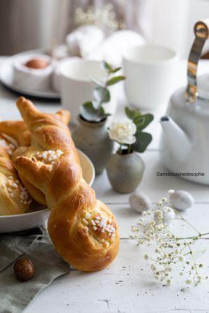 Recette Brioche lapin pour Pâques
