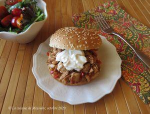 Recette Burgers au poulet cuit +