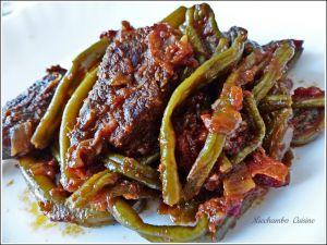 Recette Mijotée de haricots Verts au Bœuf