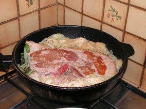 Recette Rouelle de porc aux oignons