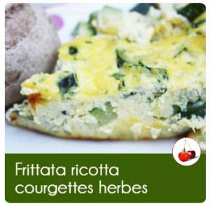 Recette Frittata ricotta courgettes herbes