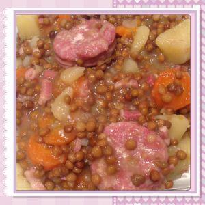 Recette Lentilles-carottes au saucisson Cookeo