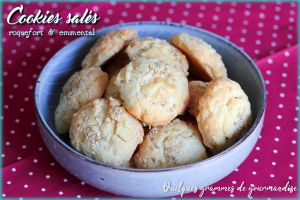 Recette Cookies salés au roquefort et à l'emmental