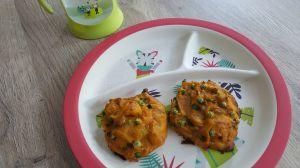 Recette Cookies moelleux carottes – petits pois (9 mois)