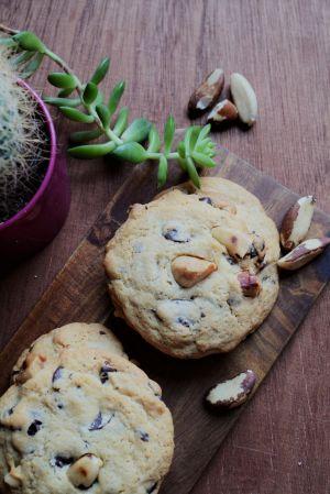 Recette Cookies au chocolat et noix du Brésil