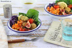 Recette Buddha Bowl Croquettes de Houmous et Légumes d'Automne
