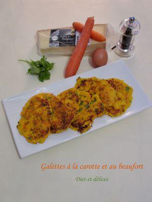 Recette Galettes à la carotte et au beaufort