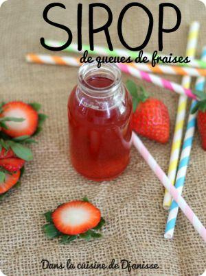 Recette Sirop de queues de fraises