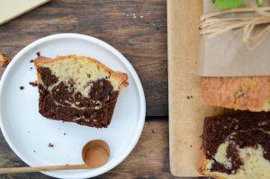 Recette Marbré vanille, chocolat et pépites de nougatine