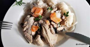 Recette Fricassée de dinde aux champignons (sans gluten)