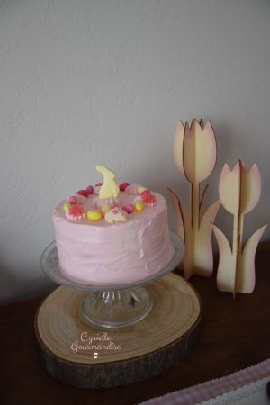 Recette Gâteau de Pâques, Amandes-Citron Vert-Fruits Rouges