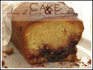 Recette Cake noix de coco et confiture de griotte
