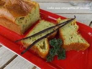 Recette Cake aux courgettes et vanille