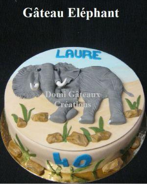 """Recette Gâteau """"Eléphant"""" Sculpté en Pâte à Sucre"""