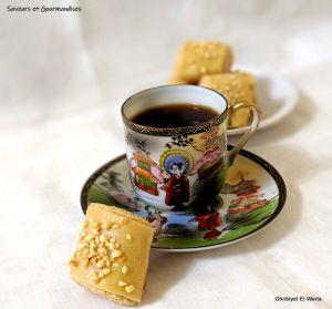 Recette Ghribiyet el warqa, gâteaux aux cacahuètes
