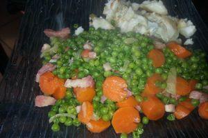 Recette Petits pois carottes lardons COOKEO